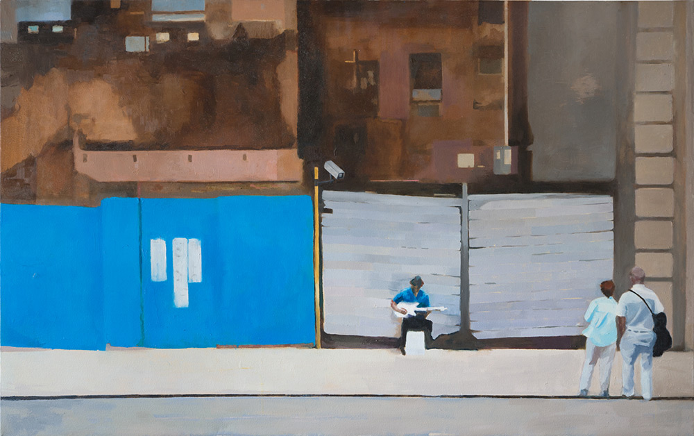 "42nd Street, 25"" x 40"" Oil on Canvas"